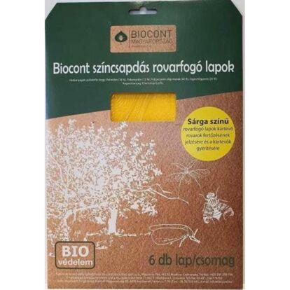 Biocont sárga, rovarfogó lapok (A5-ös méret)