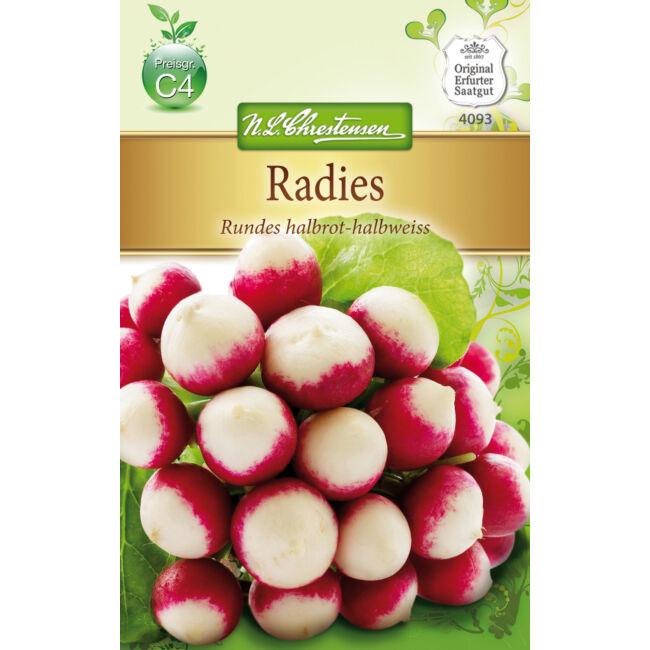 Retek 'Rundes halbrot-halbweiss' / Raphanus sativus